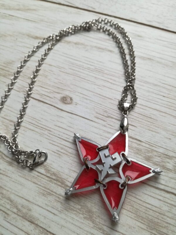 kingdom hearts red wayfinder necklace