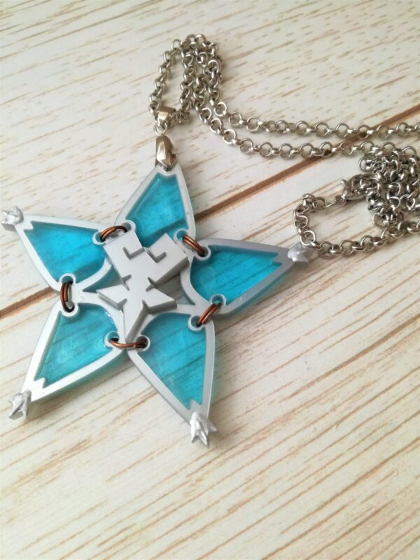 kingdom hearts blue wayfinder necklace