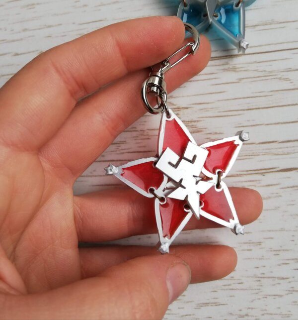 Kingdom Hearts red wayfinder keychain