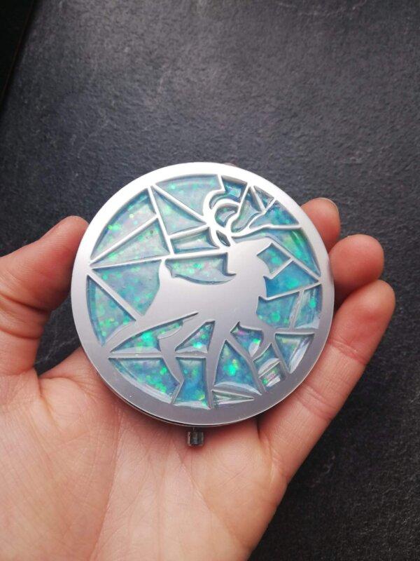 Harry potter inspired patronus pocket mirror