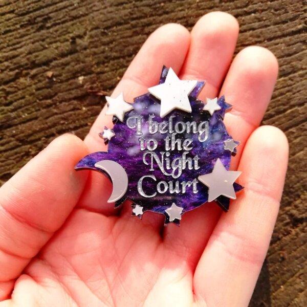 i belong to the night court acotar pin badge