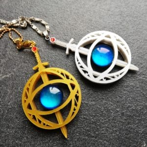 eye of elena, throne of glass necklace