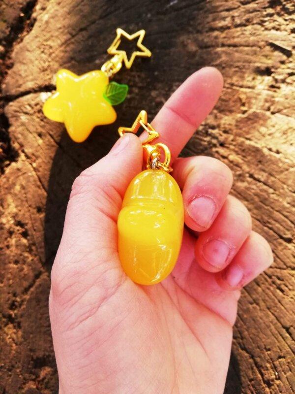 kingdom hearts Paopu fruit keychain
