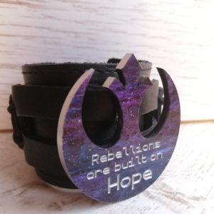 rebellions are built on hope star wars bracelet