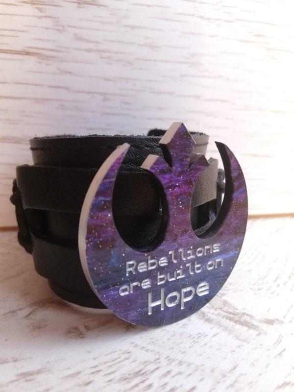 rebellions are built on hope star wars bracelet