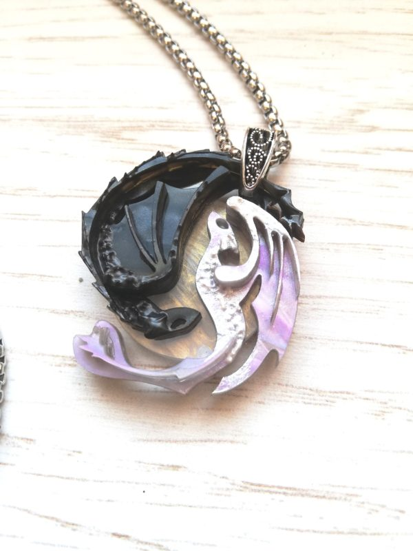How to train your dragon necklace, toothless and lightfury