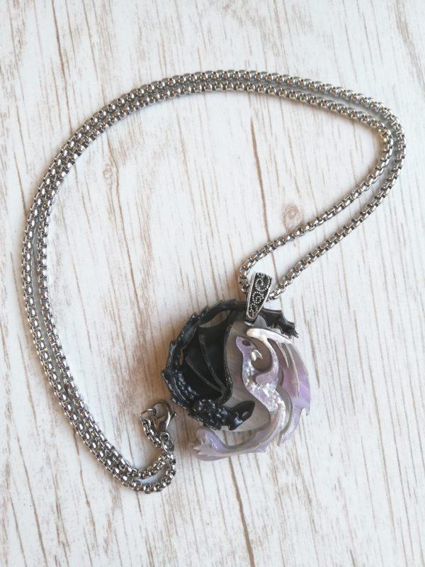 nightfury and lightfury necklace
