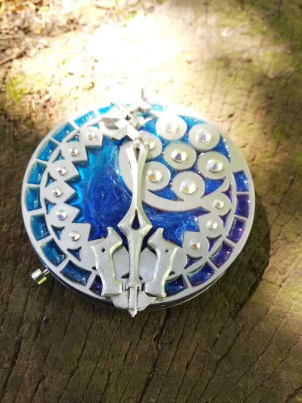 kingdom hearts birth by sleep aqua pocket mirror