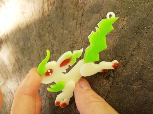 leafeon pokemon necklace