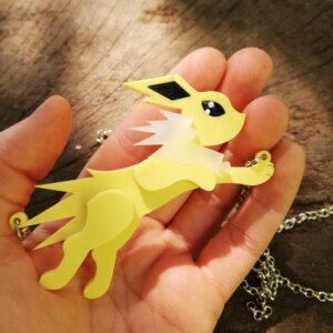 jolteon pokemon necklace