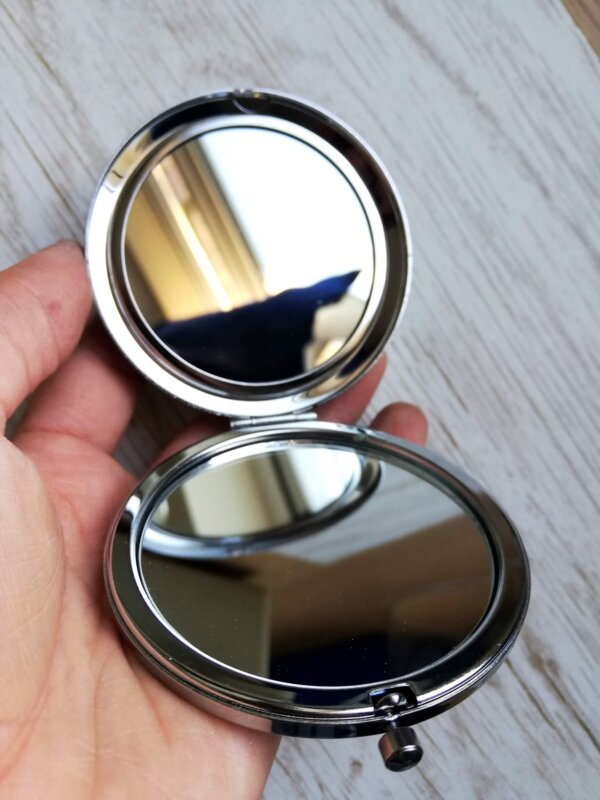 open pocket mirror
