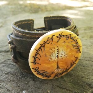 lord of the rings leather bracelet