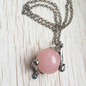 Heart of kandrakar rose quartz necklace