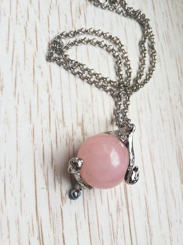 Heart of kandrakar rose quartz necklace