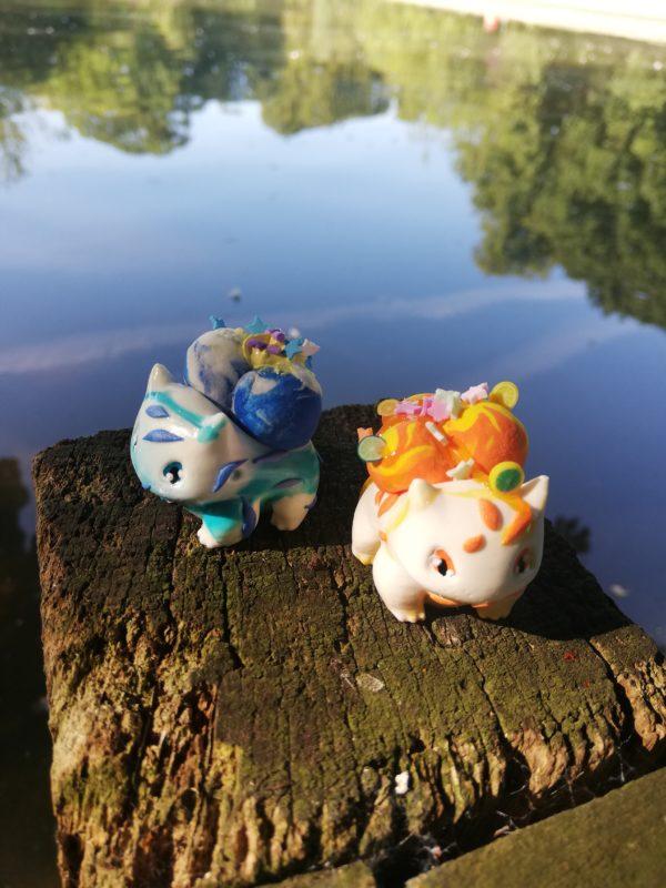 miniature bulbasaur figures- bubblegum and citrus
