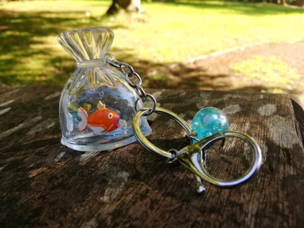 pokemon magikarp fish bag keychain