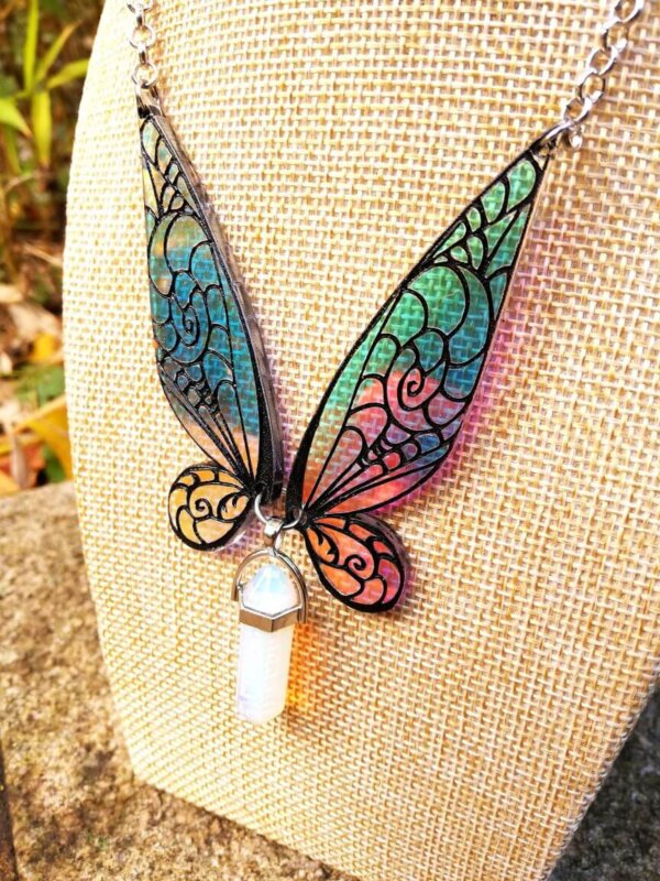 tinker bell wings necklace