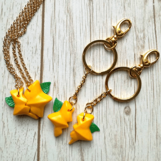 paopu fruit kingdom hearts keychain and necklace