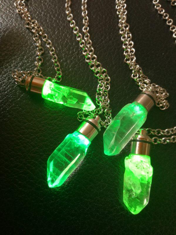 green kyber crystal cluster