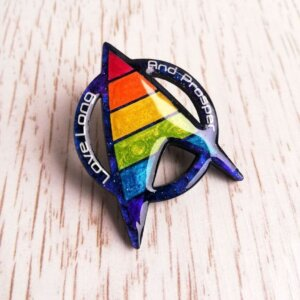star trek pride pin