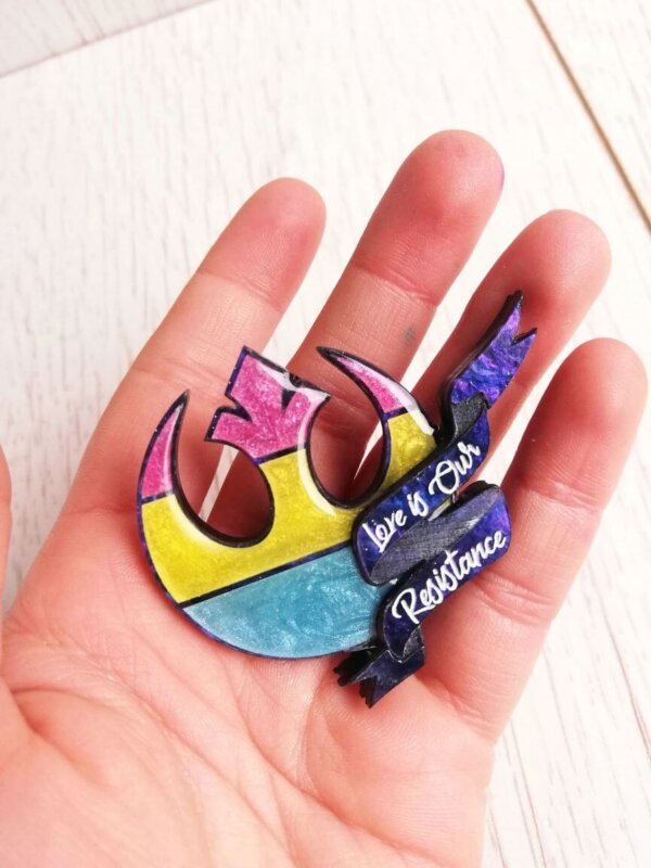 star wars pansexual pride pin