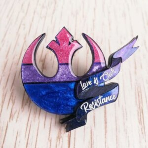 star wars bisexual pride pin