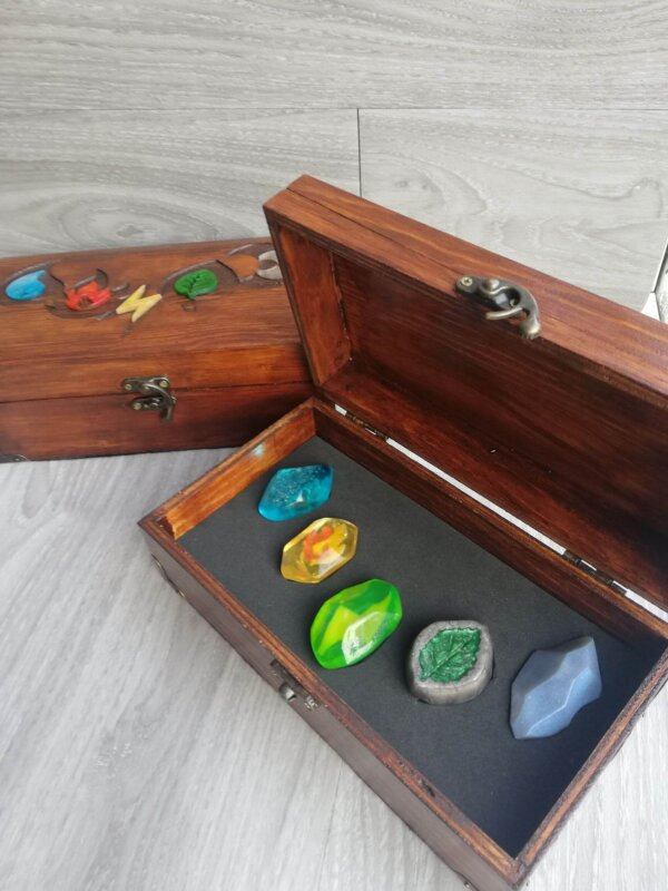 pokemon evolution stones deluxe display