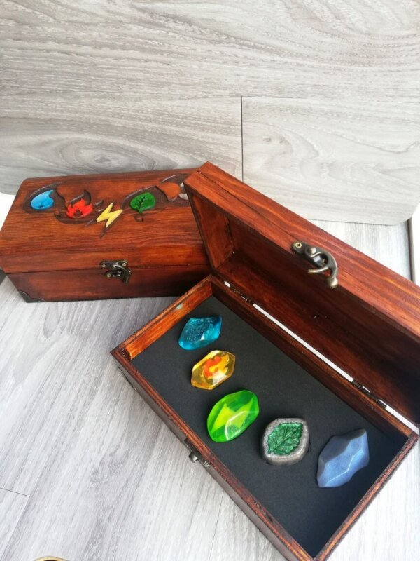 pokemon evolution stones display box
