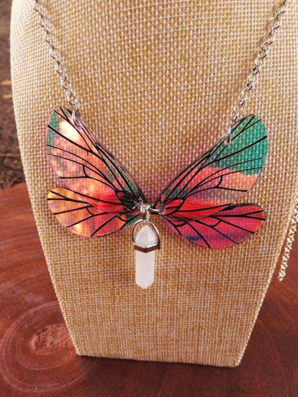 fairy wings necklace