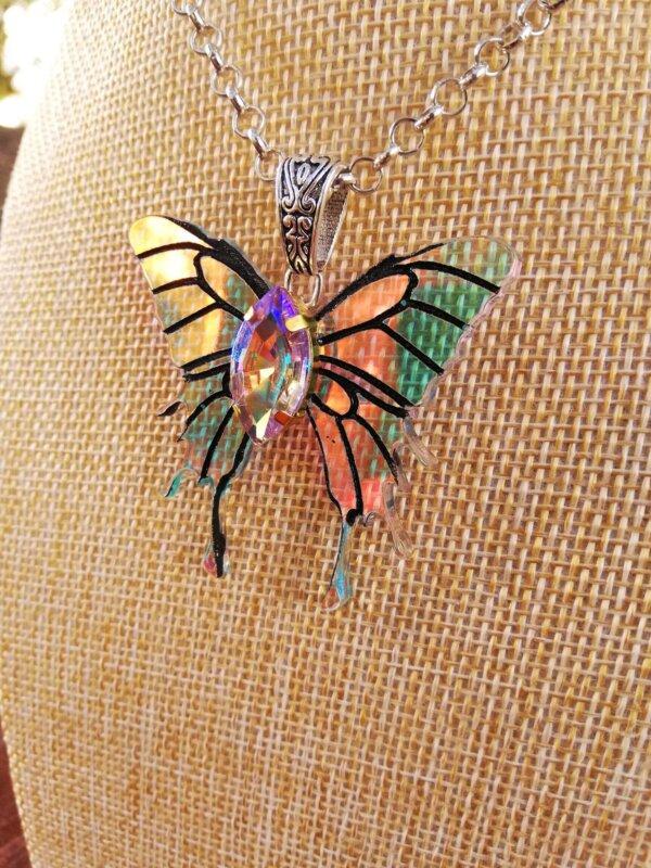 miniature wings necklace- monarch
