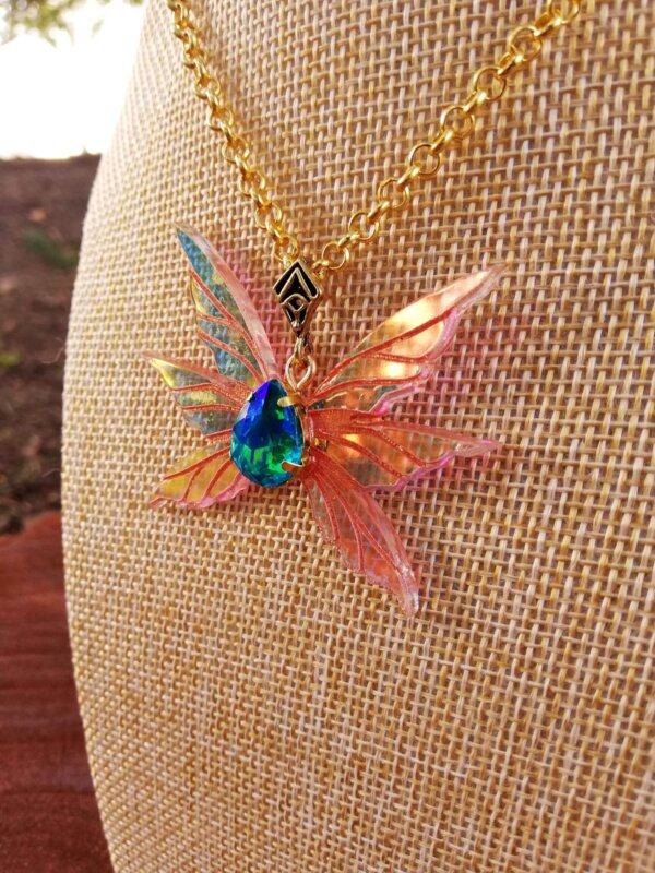 Miniature fairy wings necklace- Triad