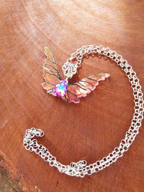 Miniature gelfling wings necklace