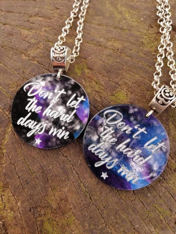 acotar night dont let the hard days win necklace