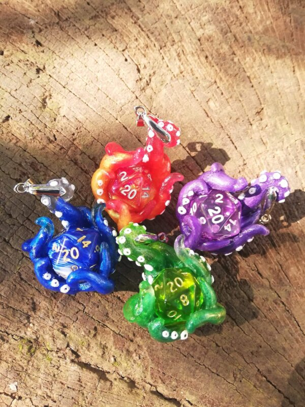kraken dice necklace