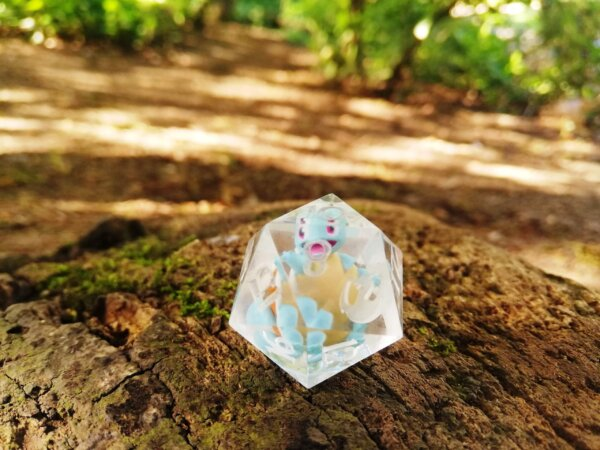 Squirtle D20 pokemon dice