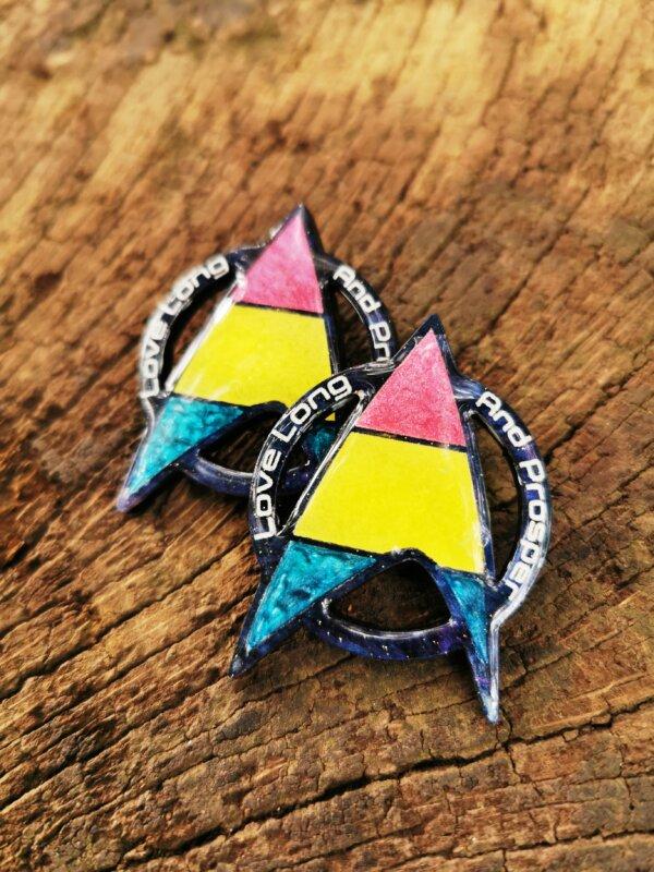 Star Trek Pansexual Pride pin- love long and prosper