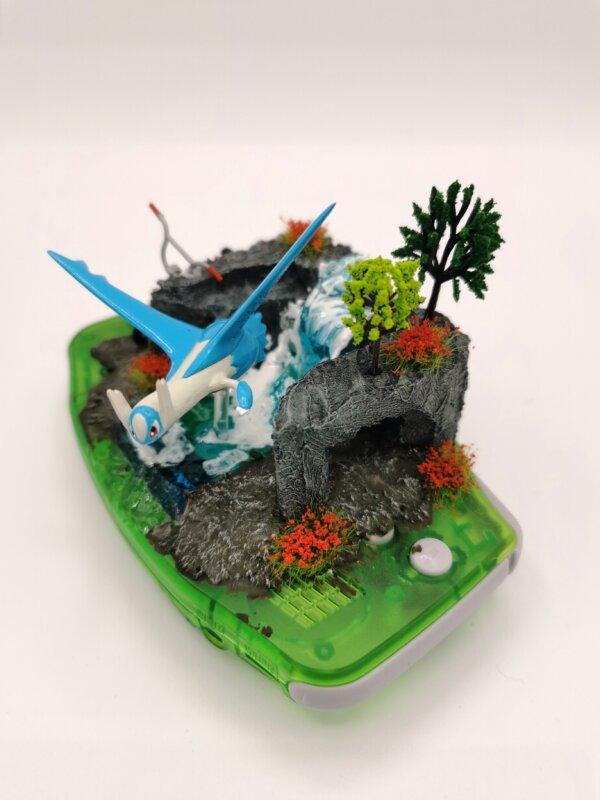 latios pokemon gameboy diorama