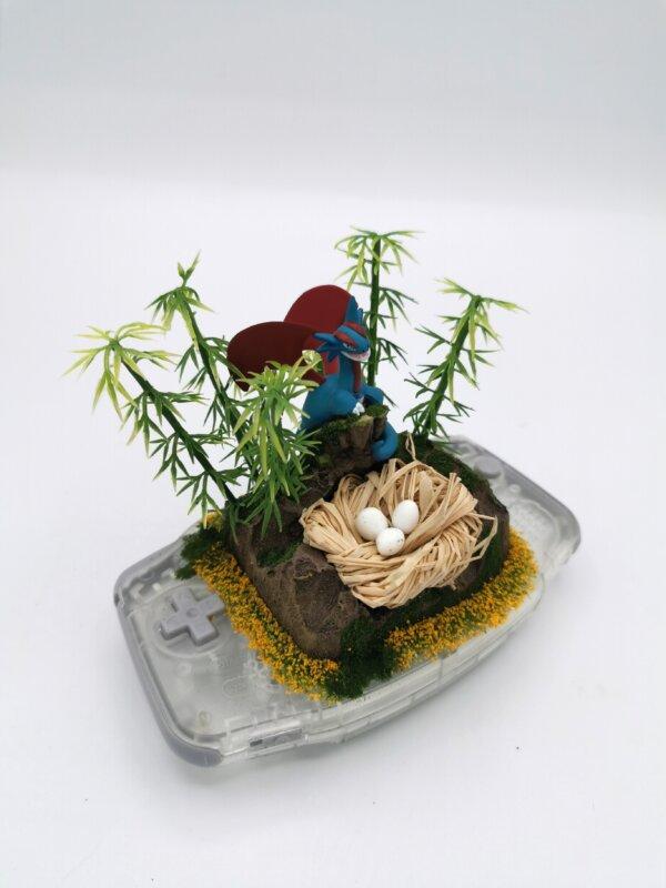 salamence pokemon gameboy diorama