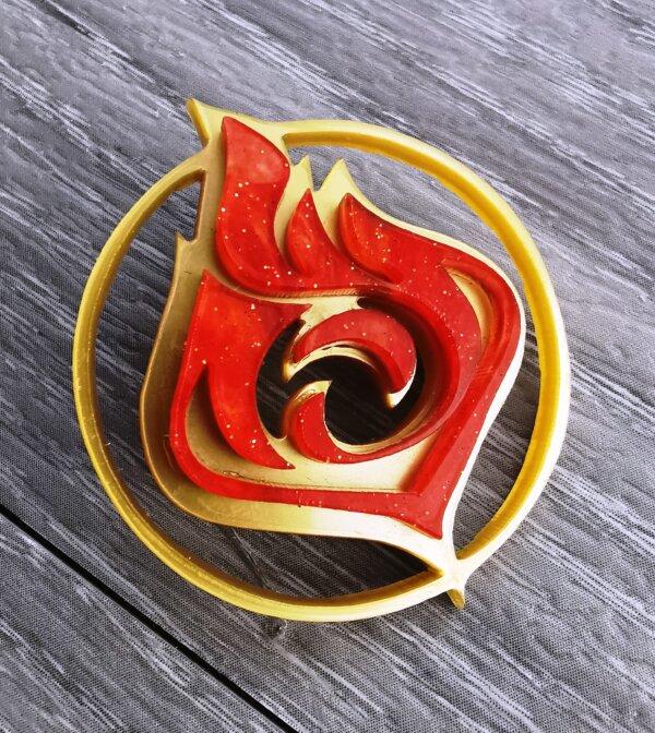 genshin impact pyro vision pin