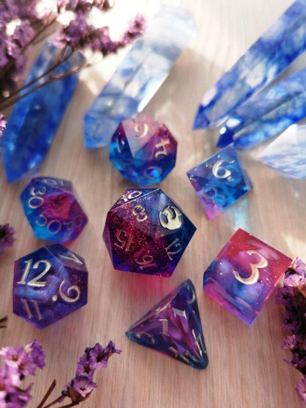 galaxy themed dice set